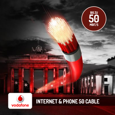 Vodafone Vodafone Red Internet & Phone 50 Cable